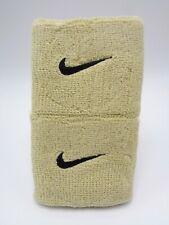 "Nike Swoosh Wristbands Team Gold/Black 3"" Men's Women's"
