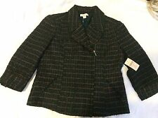NWT COLDWATER CREEK ribbon boucle zip jacket,blazer Sz.12 $99.95