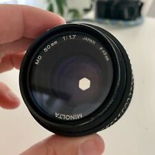 Minolta 50mm F/1.7 MD Mount Manual Focus Lens with FREE Micro 4/3 Adapter