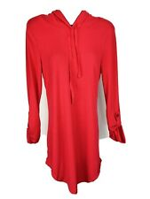 Women's No Boundaries Button Cuff Long Sleeve Red Top Size Medium 7-9
