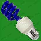 8x 15w de color CFL Bajo Consumo Espiral Fiesta Bombillas Rosca Edison ES E27