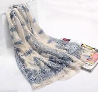 Soft Chiffon Womens Long Scarf Wrap Large Silk Shawl Stole Scarves_Fashion