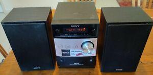 Sony CMT-FX200 AM/FM Stereo CD USB Playback Micro Hi-Fi Shelf System+Remote