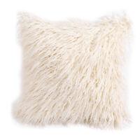 Super Soft Plush Mongolian Faux Fur Throw Pillow Cover Cushion Case 45*45cm