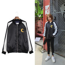 Anime Sailor Moon Embroidered Women Jacket Spring Autumn Baseball Coat Outwear