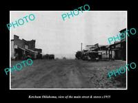 OLD LARGE HISTORIC PHOTO OF KETCHUM OKLAHOMA, THE MAIN STREET & STORES c1935