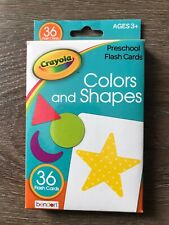Crayola Colors and Shapes Flash Cards, Ages 3+, 36 Cards - Free Shipping