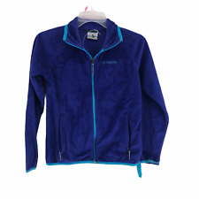 Columbia Girls Blue Long Sleeve Fleece Jacket Size Medium