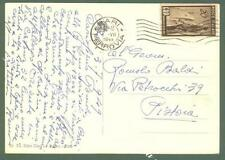 Storia Postale. REPUBBLICA ITALIANA. Lire 20 ERP su cartolina del 1949.