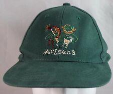Arizona Kokopelli Baseball/Trucker Adjustable Strapback Hat Cap Green