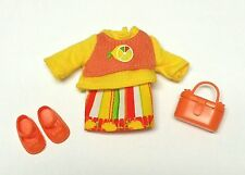 Barbie Kelly doll clothes Orange Lemon Fruitastic Skirt Top Purse Shoes HTF New