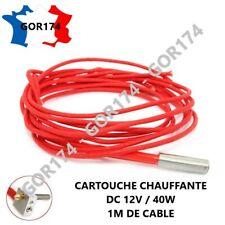 REISTANCE CARTOUCHE CHAUFFANTE 12V 40W IMPRIMANTE 3D ANET A6, A8, PRISA I3......
