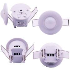 360° Infrared Motion Sensor Recessed PIR Ceiling Detector Light Switch 110-240AC