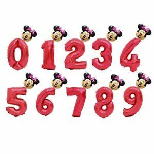 Princess Birthday Party Foil Balloons Air Kids Girl Year Number Ballon Crown Kid