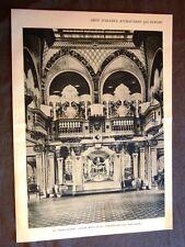 Grandi navi da viaggio nel 1928 Sulla Nave Conte Grande Sala feste e biblioteca