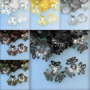 20g Metal Bead End Caps Leaf Spacer Craft Jewelry Makings 16x16x1mm/9x9x4mm PW