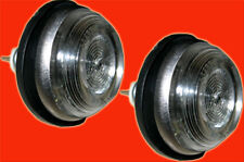 2 x Fiat 500 universal Seitenblinker Blinker rund weiss Du. 40 mm Ba9 BA 9 31466