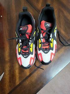 Nike Air Max 200 GS White Black Crimson Yellow Sneaker AT5627-005 3.5Y