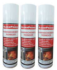 3x Fireplace Cleaner 300 ML Stove Glass Cleaner Fireplace Plate Cleaner 3er