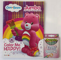 New Care Bears Jumbo Coloring & Activity Book + Pearl Crayons