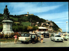 SAN SEBASTIAN (ESPAGNE) RENAULT DAUPHINE à ONDARRETA / Postée à OSSES en 1964