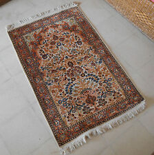 KASHMIR Tree of Life DESIGN HAND-MADE & HAND-KNOTTED SILK CARPET. 2.7 ft X 4 ft.
