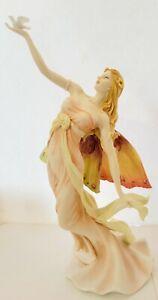BEAUTIFUL Design Toscano Flower Dancer Fairy Statue Nouveau Arts and Crafts pink