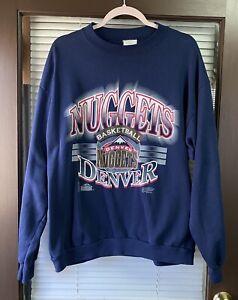 Vintage Denver Nuggets 90's NBA Sweatshirt Sweater Vtg Shirt Carmelo Starter