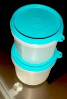 TUPPERWARE NEW VINTAGE ICE CREAM CUP SET WITH Pro SCOOP AND Cup SEALS