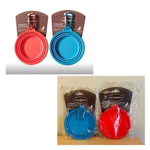 KTR group Inc. Ruff & Whiskerz Collapsible Bowl Red and Blue