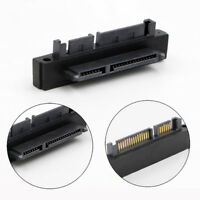 SFF-8482 SAS 22 Pin to 7+15 Pin SATA Male HDD Hard Drive Adapter 90 Degree Soft