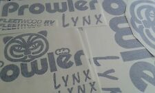 ORIGINAL LOOK FLEETWOOD RV PROWLER CAMPER WHEEL TRAILER DECALS STICKER NST55Q