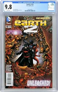 S150. EARTH 2 #19 DC CGC 9.8 NM/MT (2014) 1st App. of VAL-ZOD; WHITE Pages