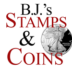BJ's Stamps and Coins store