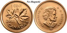 CANADA 2011 New 1 cent Copper Plated Zinc NON-MAGNETIC (BU From roll)