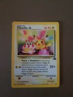 Compleanno di pikachu holo 24 black star in italiano - pokemon
