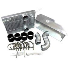Aluminum Intercooler Piping Shroud Kit For RX7 RX-7 FD Twin Turbo Black