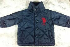 US Polo baby Boy Quilted Blue Jacket Very Good Condition Sz 6-9 Mo