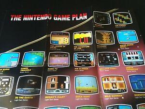 Vintage Original The Nintendo Game Plan Poster NES Entertainment System 1989