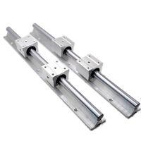 2pcs SBR12 1200mm linear bearing supported rails+4 pcs SBR12UU bearing blocks