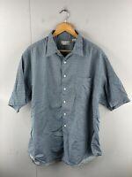 Murano Men's Vintage Short Sleeve Beach Hawaiian Casual Shirt Size XL Green