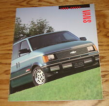 Original 1993 Chevrolet Van Sales Brochure 93 Chevy Astro Lumina Sportvan