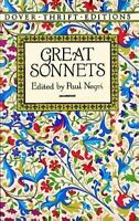 Great Sonnets Paperback Dover Thrift Editions
