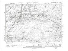 Lower Bryn-amman, Gwaun-Cae-Gurwen, old map Glamorgan 1900: 2NE repro Wales