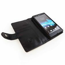 Synthetic Leather Card Pocket Wallet Cases for Sony Xperia Z3