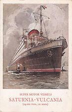 * Navi passeggere - Cosulich Line - Saturnia Vulcania 1928 Napoli Benevento
