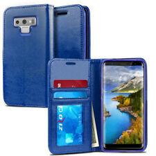 For Samsung Galaxy Note9 /N960 Wallet Pouch Phone Case - Blue Leather