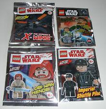 LEGO Star Wars - Obi-Wan, X-Wing, Kanan Jarrus, Imperial Pilot  Minifiguren OVP