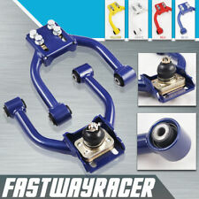 96-00 Civic Blue Front Upper Control Camber Arm Kit Arms Suspension Lowering Kit