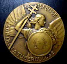 Medal Défense contre la Tuberculose Bronze Medal by Contaux. Art Deco. / N.110